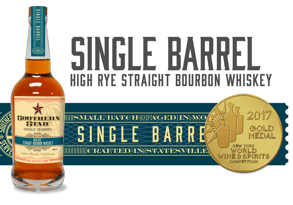 Southern Star Single Barrel: High Rye Straight Bourbon Whiskey