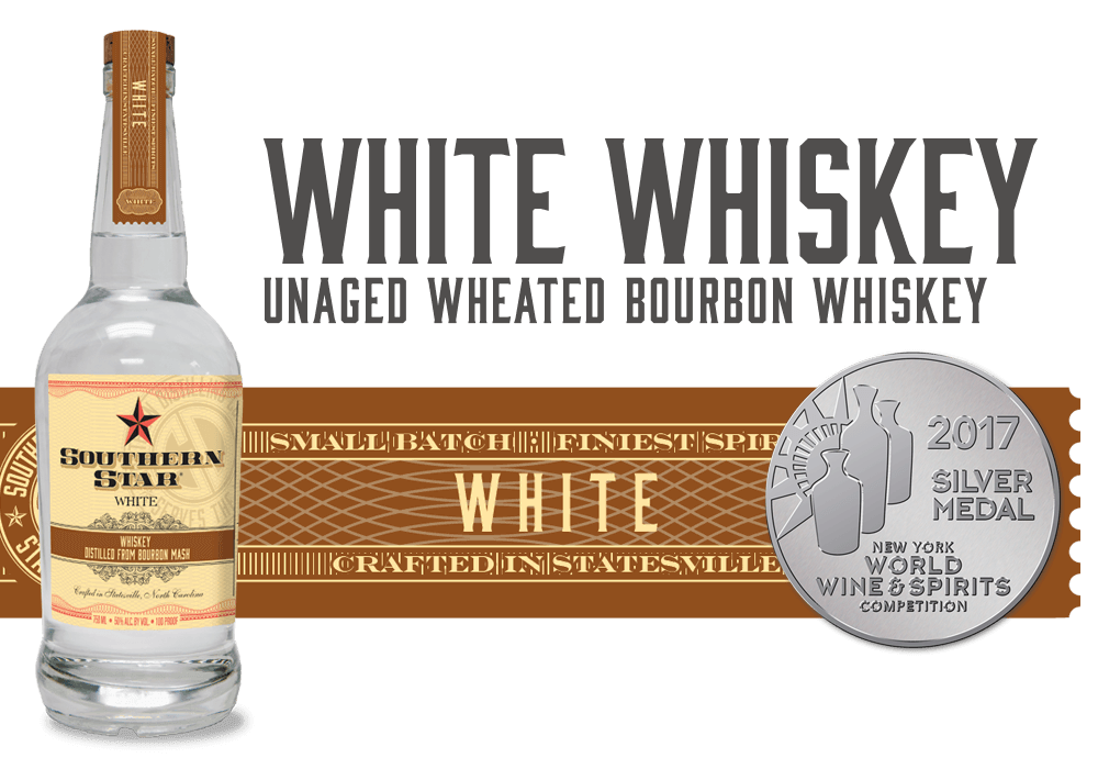 Southern Star White Whiskey: Unaged White Wheated Bourbon Whiskey