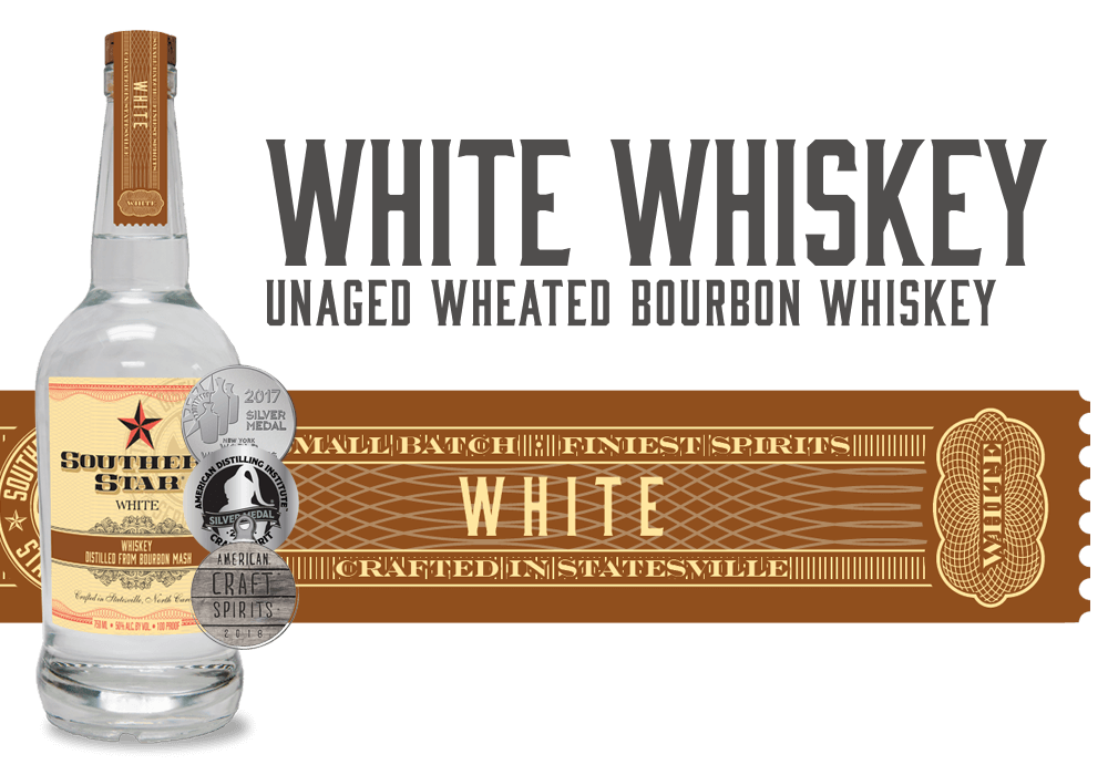 Southern Star White Whiskey: Unaged Wheated Bourbon Whiskey